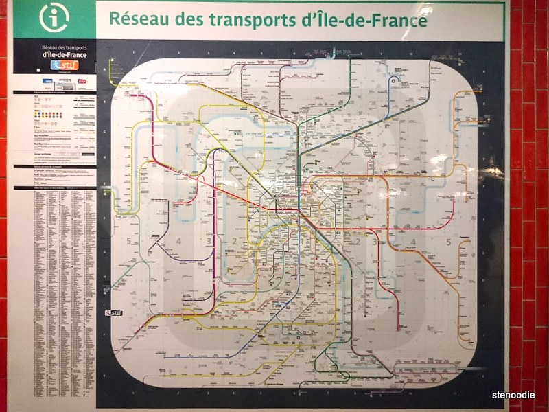 Paris train map