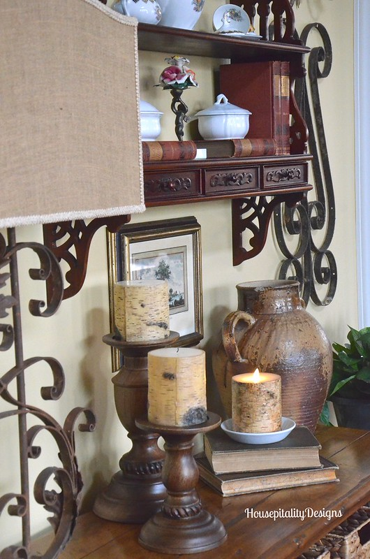 Great Room Table Vignette - Housepitality Designs