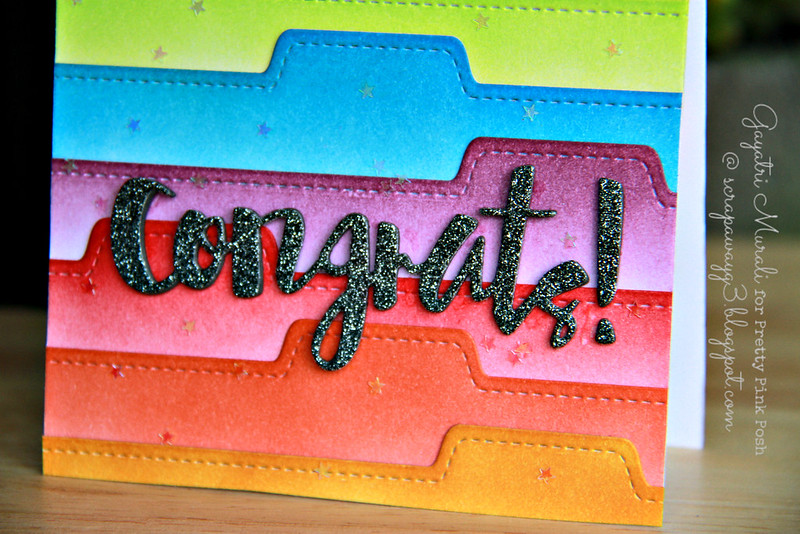 Congrats card closeup!