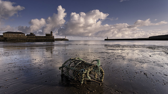 Whitehaven Harbour and old pot