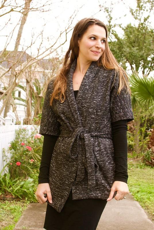 Mood Fabrics | Italian Black and White Double Knit