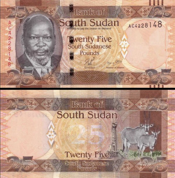 25 Juhosudánskych Libier, Južný Sudán 2011, P8 UNC