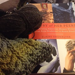 Peaceful February mornings. #knittingandreading, #resolvetotry