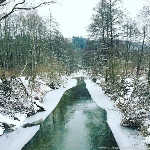 Eis auf der Teisnach