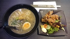 Chicken karaage ramen lunch set AUD10 - Wagaya, Me…