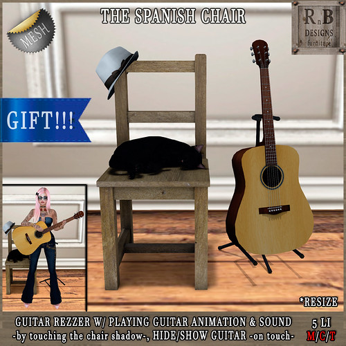 Jack or Jill Hunt Gift!!! *RnB* The Spanish Chair: guitar rezzer w/ anim & music