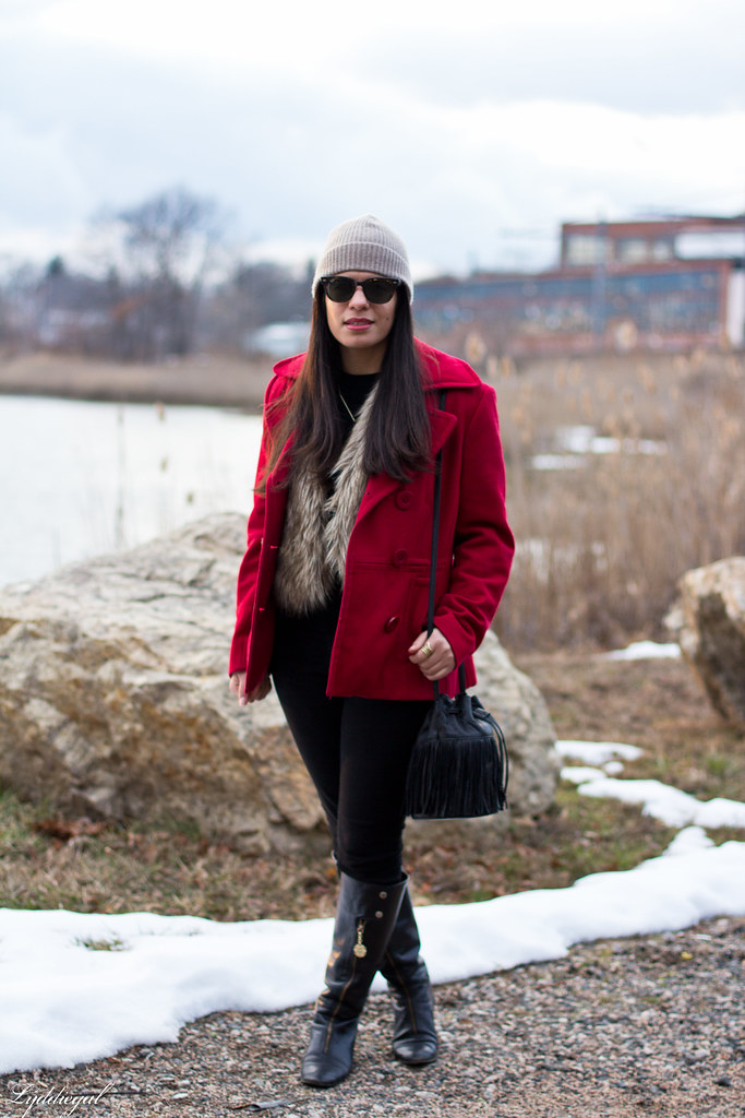 black sweater, fur vest, red coat, fringe bag-3.jpg