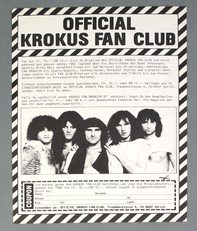 "KROKUS ONE VICE AT A TIME (SWITZERLAND) 12"" LP VINYL"