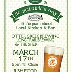 Join us for our St. Patrick's party with @longtrailbeer @ottercreekbeer @rogueisland #cornbeef #rogueisland #supportlocal #saint #patricks #irish #springrolls #irishnachos #nocarbombs