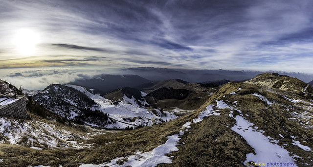 Winter Sunset from the Cima Grappa