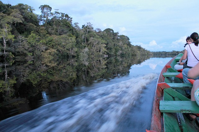 cruising by quickly canoe amazon tupana lodge