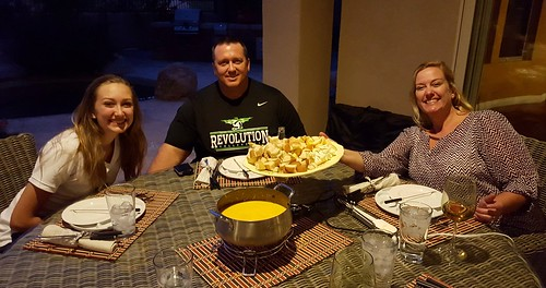 First fondue course with Hazel, Wayne & Beth