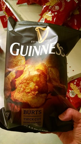 Just in time for St. Patrick's Day: #Guinness Potato Chips.