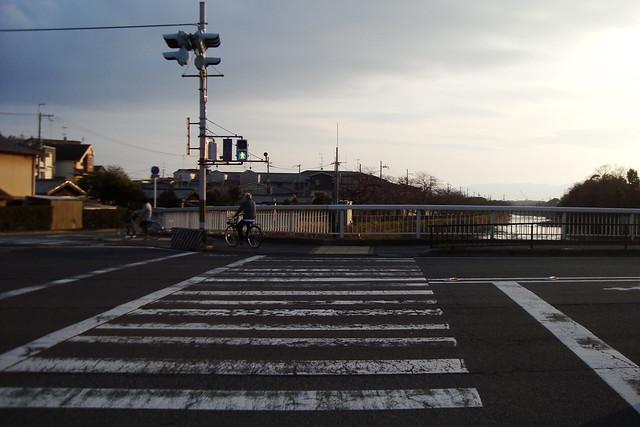 2016/03 松ヶ崎橋の横断歩道
