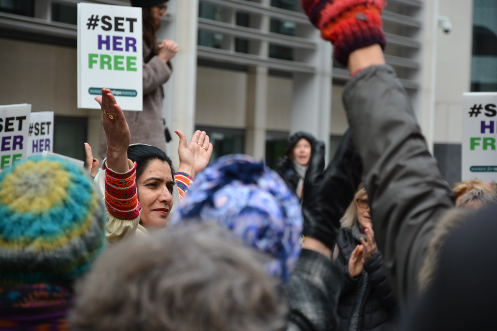 Set Her Free on International Women's Day Demo (Home Office, London)
