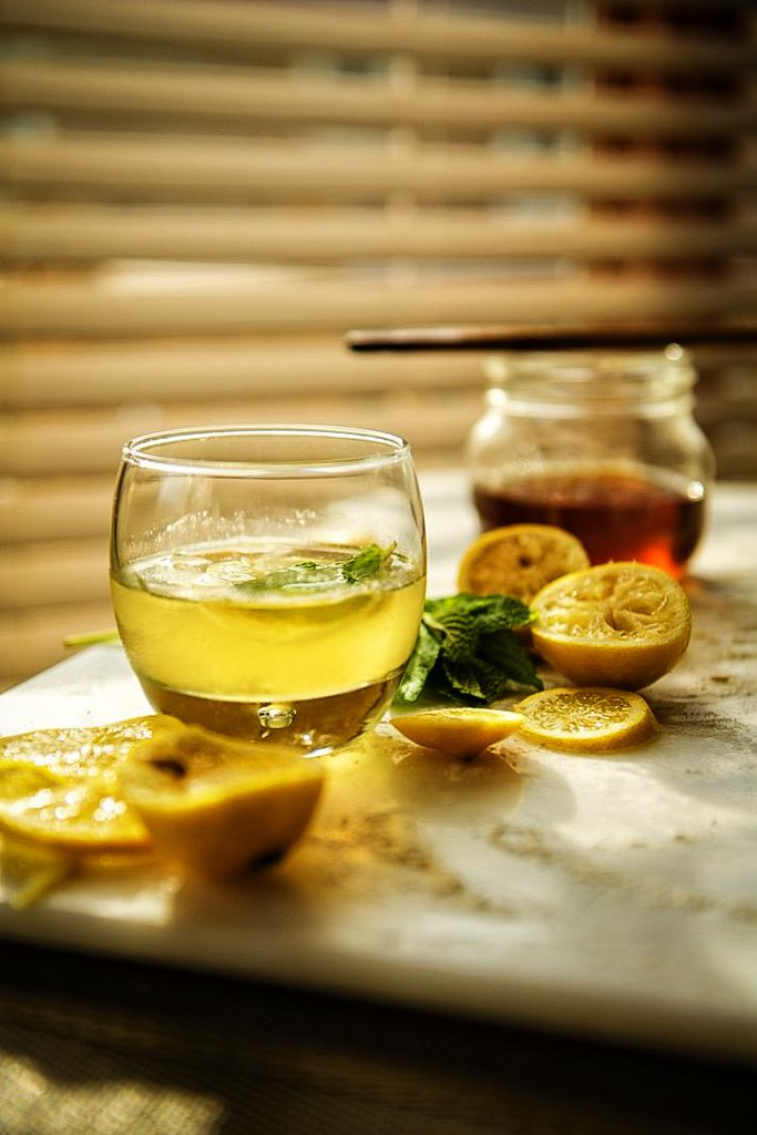 Mint Infused Lemon Drop Cocktail