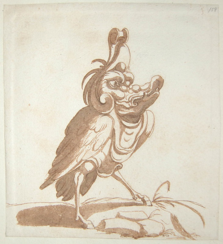 Arent van Bolten - Monster 158, from collection of 425 drawings, 1588-1633
