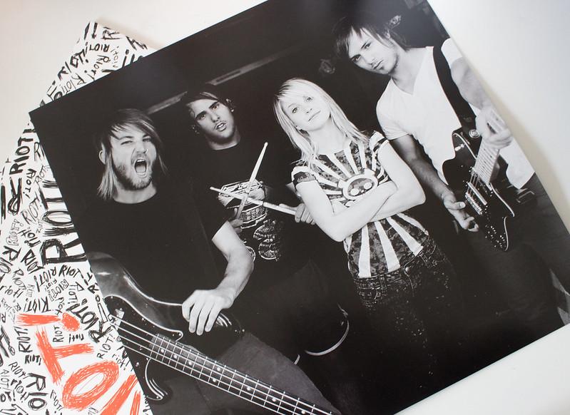 Paramore Riot on Vinyl inner sleeve