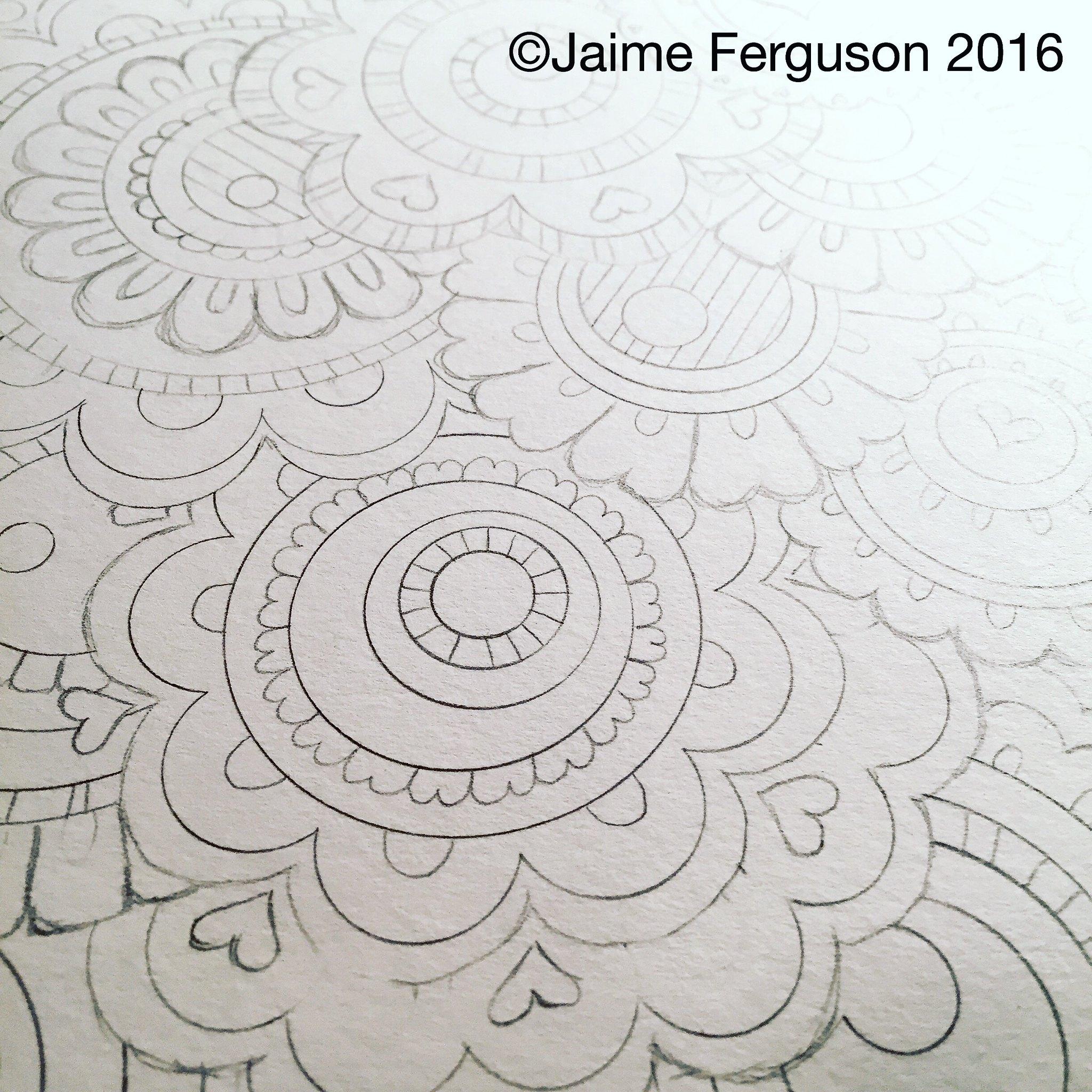 WIP 8x10 Doodle