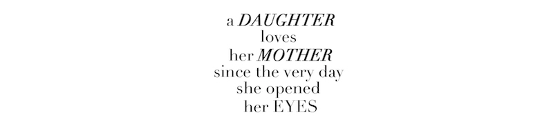 a daughter loves
