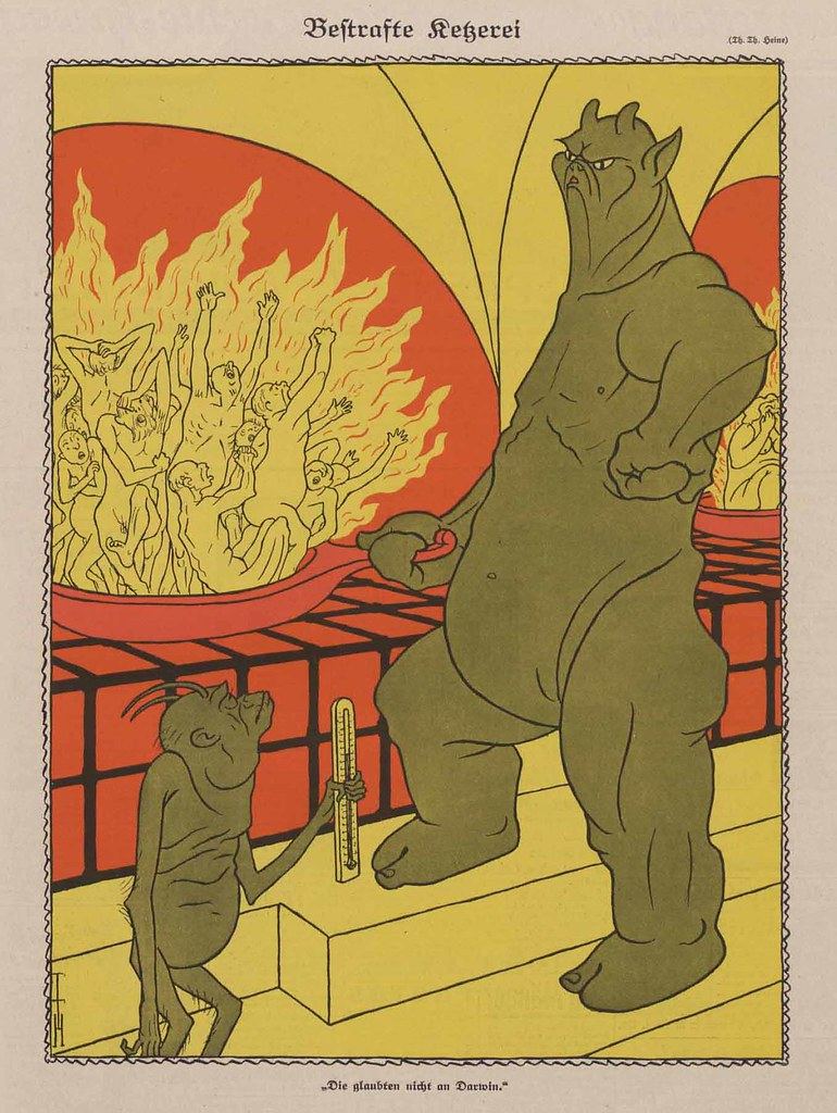 Thomas Theodor Heine - Punished Heresy, 1925