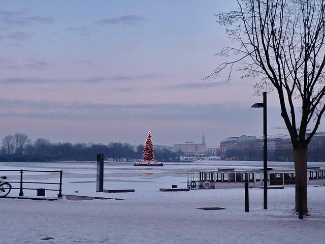 Hamburg_gefrorene Alster