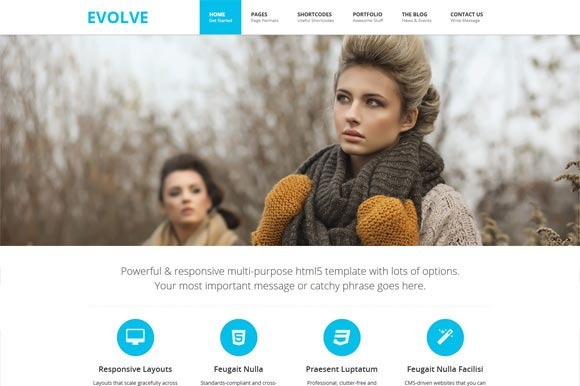 Creativemarket EVOLVE – Responsive HTML5 Template Update