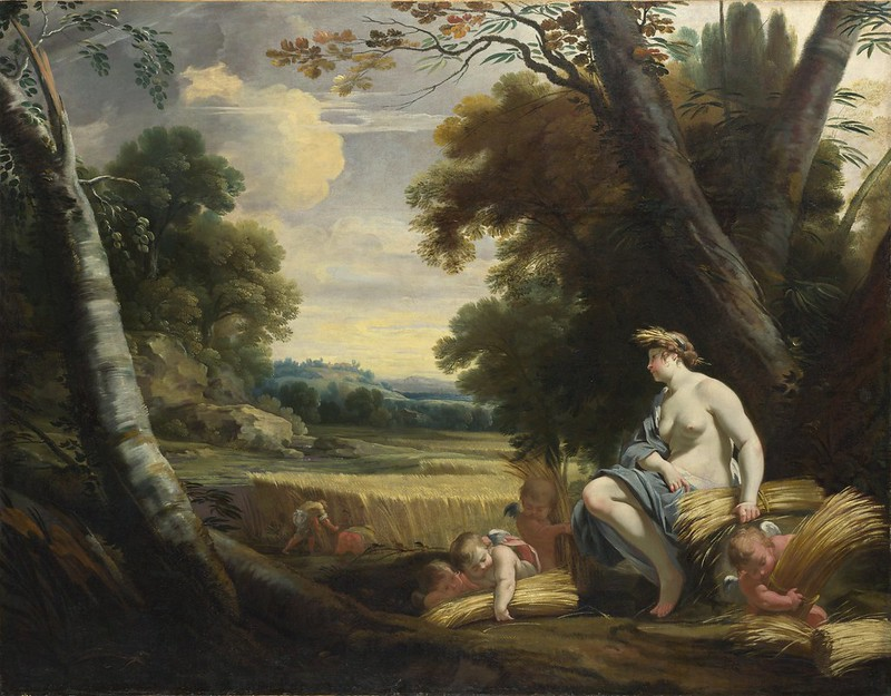 Simon Vouet and studio - Ceres and Harvesting Cupids