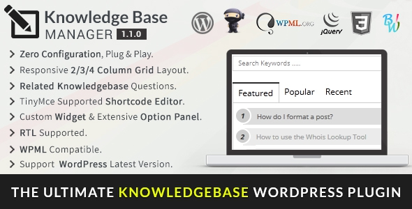 CodeCanyon BWL Knowledge Base Manager v1.1.1