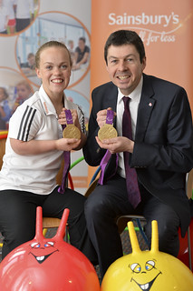 Ken with Ellie Simmonds at the launch of Active Kids 2016