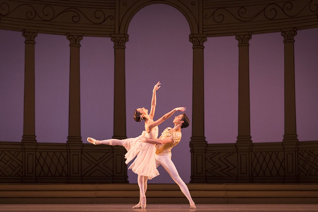 Francesca Hayward and James Hay in Frederick Ashton's Rhapsody © ROH, 2016. Photograph by Helen Maybanks