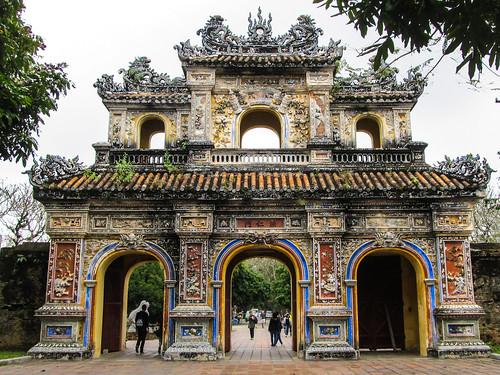 La Citadelle de Hué: la Porte de sortie