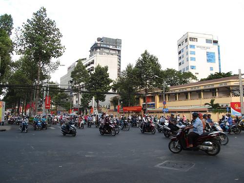 Ho Chi Minh Ville et ses bouchons de scooters