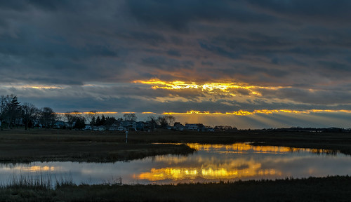 trees winter sunset sky color reflection tree water clouds reflections geotagged outdoors gold evening nikon unitedstates connecticut clinton newengland marsh sunrays hdr nikond5300