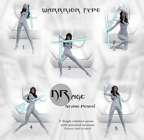 NRage Studio Poses! - Warrior Type -Commons