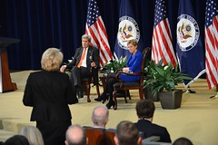 U.S. Secretary of State John Kerry holds a town hall meeting with Department of State personnel, at the U.S. Department of State, in Washington, D.C. on February 8, 2015. [State Department Photo/Public Domain]
