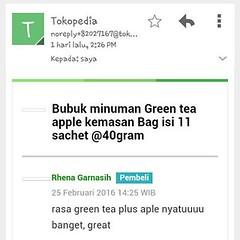 Pernah ngerasain enaknya perpaduan green tea jepang plus apel malang?   Cuma di @dbdpowder lhoo...   #greentea #bubukminuman #bubukgreentea