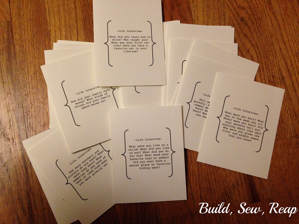 Life Interview Boxed Set by Julie at Build, Sew, Reap