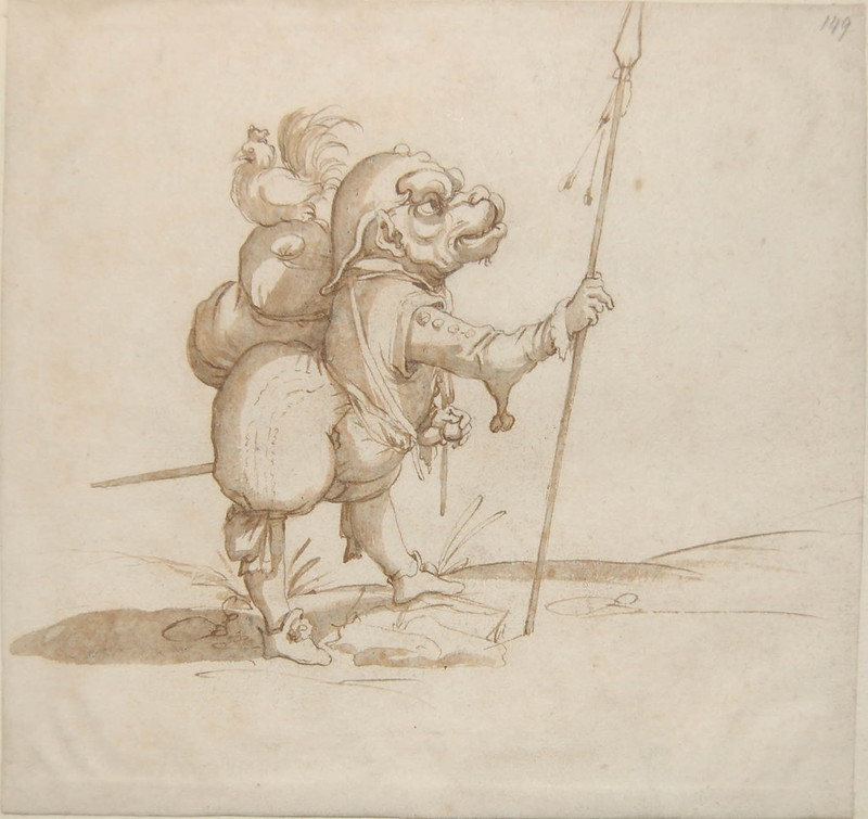 Arent van Bolten - Monster 149, from collection of 425 drawings, 1588-1633