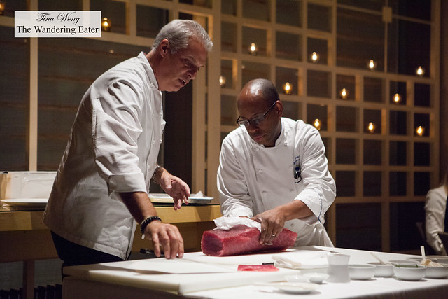 Eric Ripert and his Executive Chef Eric Gestel