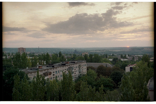 sunset film 35mm canon town lomography donbass kramatorsk краматорск