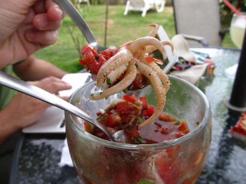 Lívingston: une ceviche aux calamars