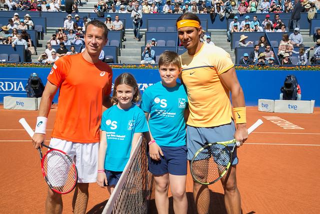 Escort Kids con Nadal y Kohlschreiber