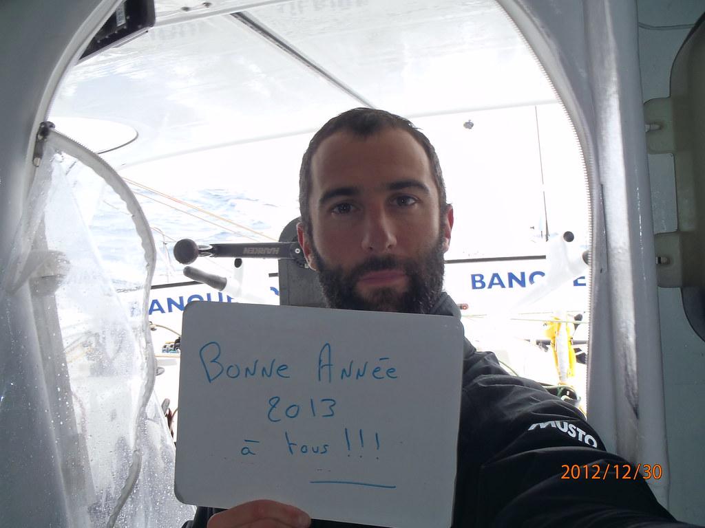 Bonne à tous !  Armel Le Cléac'h - Vendée Globe - 01-01-2013 / BPCE