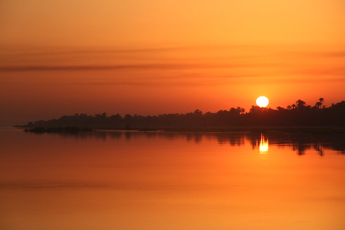 africa morning cruise reflection sunrise river egypt nile ms luxor legacy qus qena