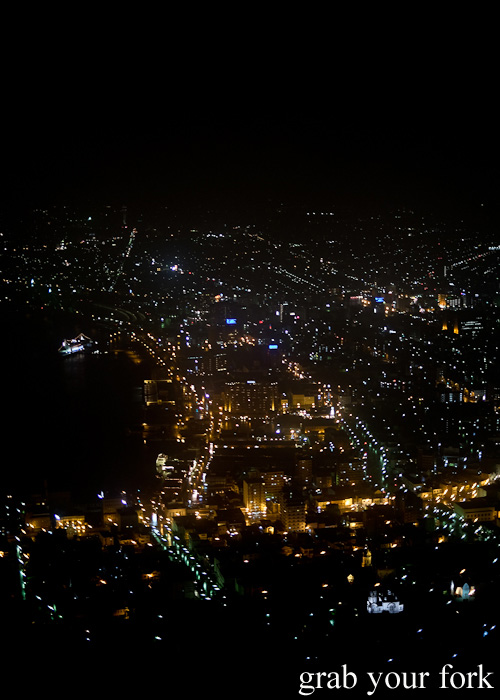 Night lights from the top of Mount Hakodate, Hokkaido