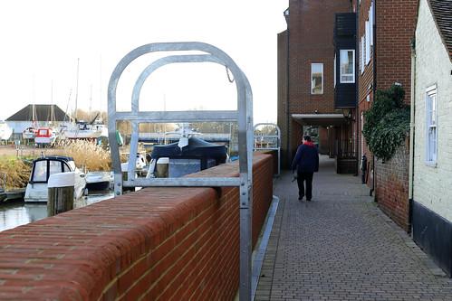 New flood defences at Sandwich