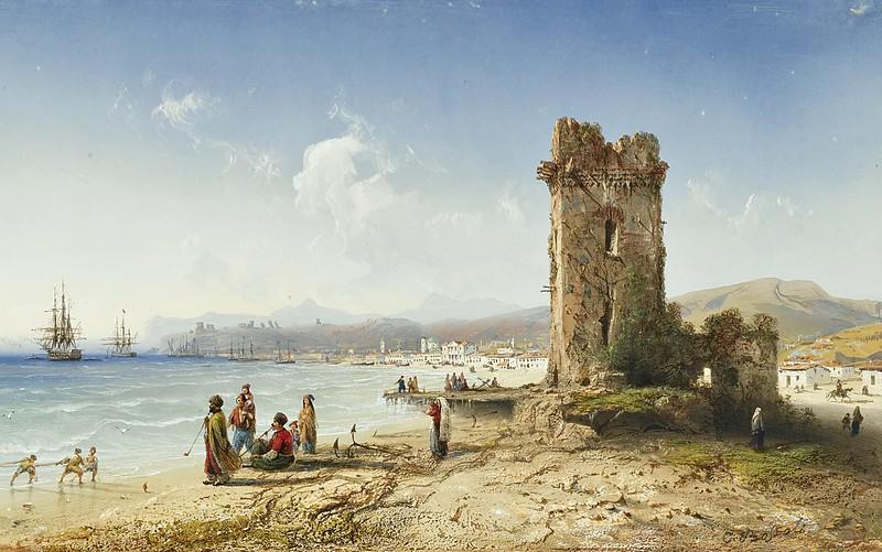 Carlo Bossoli - The ruins of Chersonesus, Crimea (1855)
