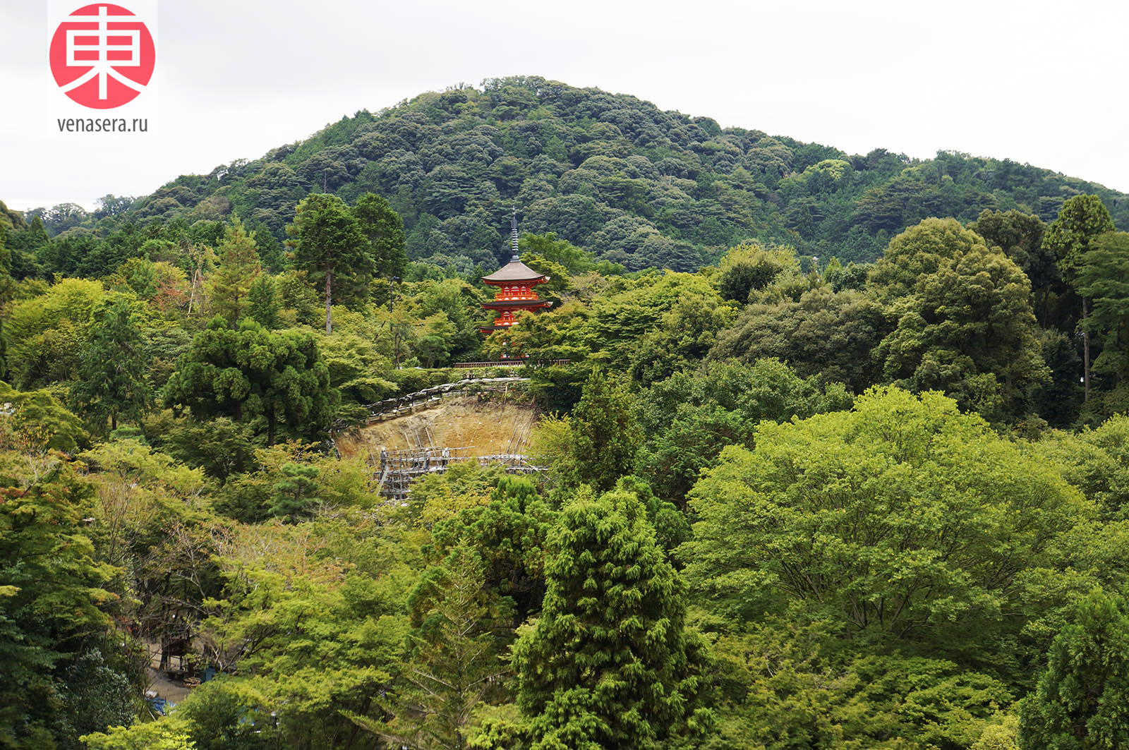 Храм Киёмидзу-дэра в Киото, 清水寺, Киото, Kyoto, 京都, Япония, Japan, 日本.