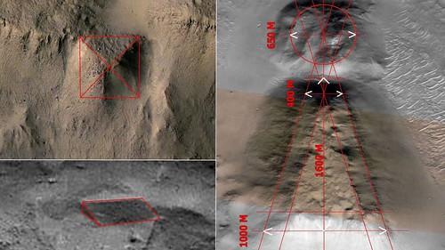 Tumbas japonesas Kofun en Marte